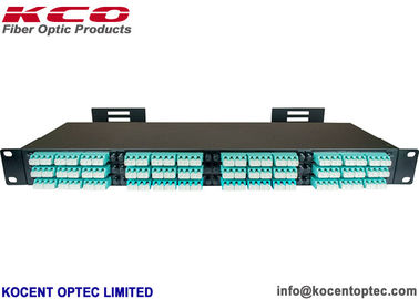 China MPO MTP Fiber Optic Patch Panel , 144 Fiber 12 Core Optical Fiber Patch Cord supplier