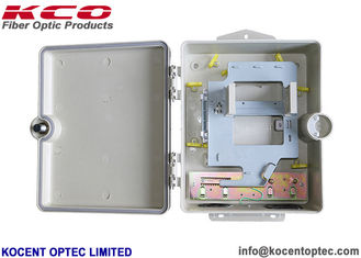 China Wall / Pole Mount Outdoor Fiber Optic Distribution Box 1*16 2*16 Splitter KCO-SMC-0224X supplier