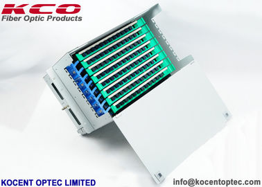 China 96 Core Rack Mount Fiber Optic Terminal Box ODF Unit / 96fo Steel Material supplier