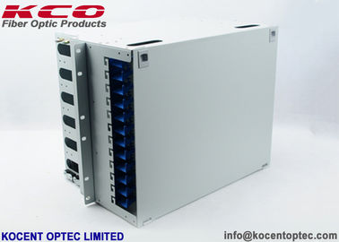 China 19'' Fiber Optic Distribution Box 144 Core ODF Unit / 144fo Patch Panel For Cabinet supplier