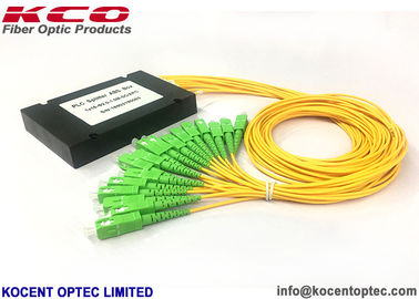 LAN Fiber Optic Splitter 1x16 ABS Box 0.9mm 2.0mm 3.0mm KCO-ABS-1x16-2.0-SCA
