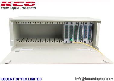China Rack Mountable Fiber Optic Audio Splitter ODF Patch Panel 1*2 1*4 1*8 1*16 1*32 LGX Type supplier