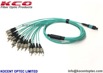 China 16 Cores MPO MTP Patch Cord OM3-150 PVC LSZH Cover For 5G Bank Data Center supplier