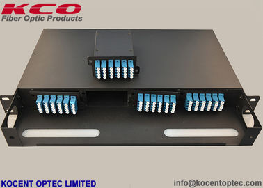 China High Density MPO Fiber Optic Patch Panel , 1U 19'' Rack Mount Fiber Optic Termination Box supplier