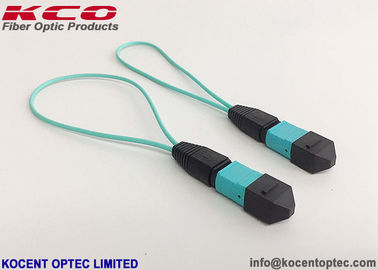 China LSZH Cover OM3 8fo 12fo 0.3m 0.15m MPO MTP Loop Back Patch Cord supplier