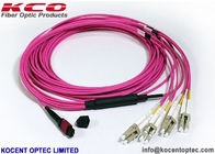 OM4 MPO MTP Patch Cord LC SC  Connector 8 12 24 Core  Pink Violet LSZH Cover