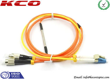 China Mode Condition Fiber Optic Patch Cord / FC to LC Multimode Duplex Fiber Optic Cable factory