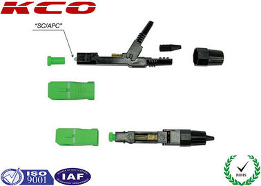 China Green Optics Fiber Fast Connector Single Mode SC / APC Type Easy Assembling distributor