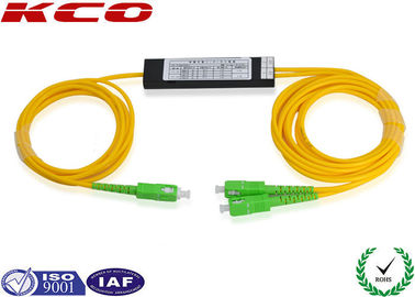 China SC / APC Single Mode Dual Windows FBT Splitter 1*2 G657A SM Coupler distributor