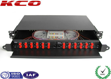 Drawer Fiber Optic Terminal Box Rack Mountable Patch Panel With FC adapter