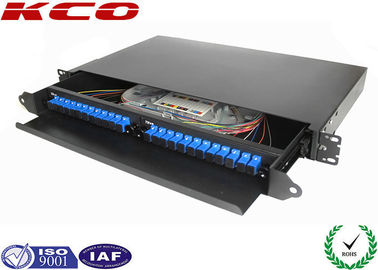 China 19'' Fiber Optic Terminal Box / Fiber Optic Patch Panel 24 Cores With SC Pigtail distributor