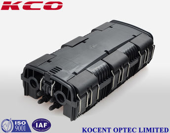 China 6 In Port 8 Out Port Fiber Optic Splice Closure Box 96 Cores ABS + PC Hand Holes distributor