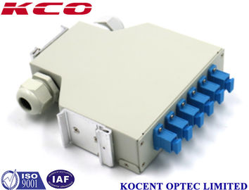 China KCO-DINRAIL-SC-SM-06 Fiber Optic Terminal Box Single Mode SC 6 Ports FTTH GPON distributor