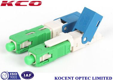 Green 2.0mm 3.0mm FTTX  SC /APC field installable fiber optic connector