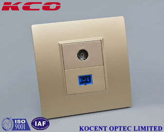 FTTH Flame Retardant Fiber Optic Distribution Box For Fiber CATV Networks Socket Face Plate