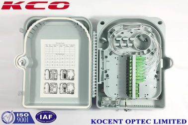 China FTTH 24 Port Fiber Optic Terminal Box  KCO-FDB-24G Outdoor Water Proof ABS PC Material distributor