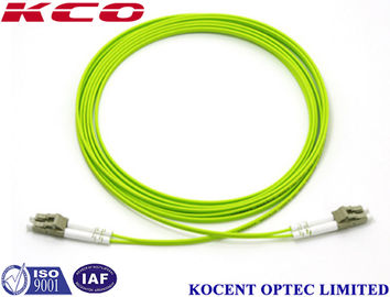 LC-LC Duplex Multimode Fiber Optic Patch Cord 0.35dB Insertion Loss With Different Length
