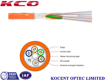 Non Metallic Air-Blowing Optical Fiber Cable , PE Sheath Fiber Optic Patch Cord