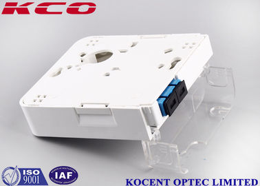 1 Port SC Duplex Fiber Optic Termination Box Wallmount Socket 2 Cores FTTH FTTB
