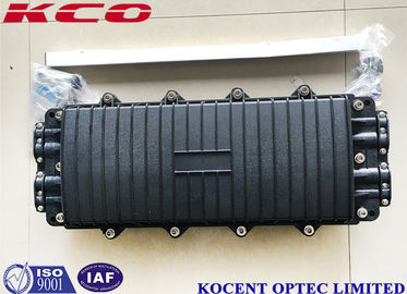 China 288 Cores Fiber Optical Splice Closure Joint Box 8 Ports 4 In 4 Out PC Material KCO-H44280 factory