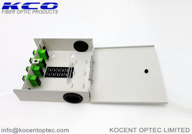 8 Core Fiber Optic Terminal Box FTB OTB Wallmount FTTH SC/APC Duplex Steel Tape