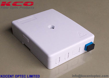 China KCO-FTB-02N 2 Port 2 Core Fiber Optical Termination Box FTTH Indoor Face Plate Socket SC/UPC SC/APC distributor