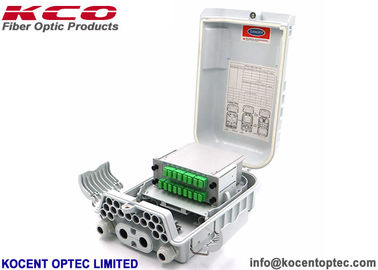 Outdoor IP65 FTTH 16 Ports Optical Fiber Termination Box White Color KCO-0416