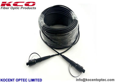 Armored Outdoor Field Fiber Optic Patch Cable Waterproof Connector For FTTA