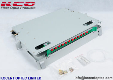 China 1U 12 Core Fiber Optic Terminal Box Steel Material For 19'' Distribution Frame factory