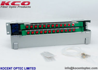 China Steel 24FO Fiber Optic Distribution Box 24 Core 19'' Fiber Terminal Patch Panel factory