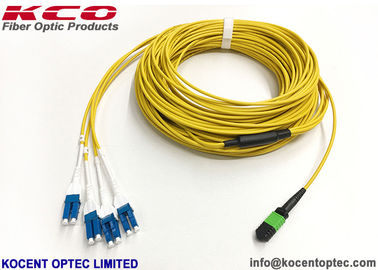 China 40G Data Center MTP Trunk Patch Cable MPO - LC Duplex Uniboot 8 12 24 Core PVC LSZH Cover factory