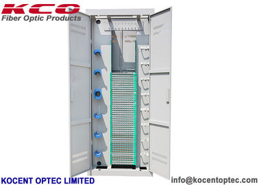 China OEM ODM FTTH Fibre Optic Cabinet 2.0m High 576/720 Cores SC FC 12fo Splice Tray factory