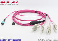 16 Core MPO Patch Cable LC FC ST SC Optical Fiber Connector For Data Center