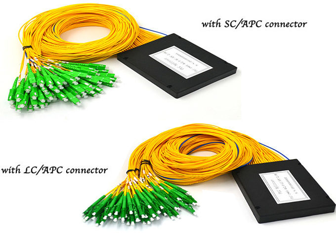 LC APC Fiber Optic Coupler Splitter 1x64 ABS Module, GPON Optical Splitter
