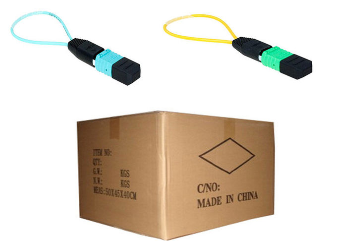 Mono Mode MPO MTP Fiber Optic Loopback Cable / Plug for Cable Testing