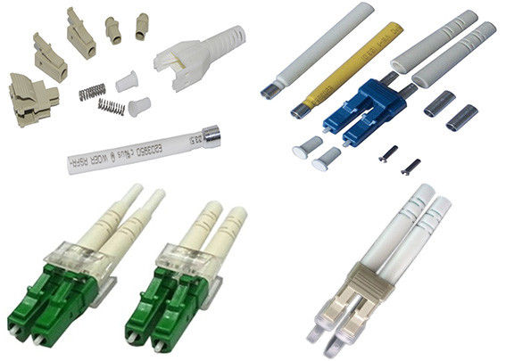 Dual LC Connector Fiber Optic Pull Proof , Plastic Optical Fiber Connectors