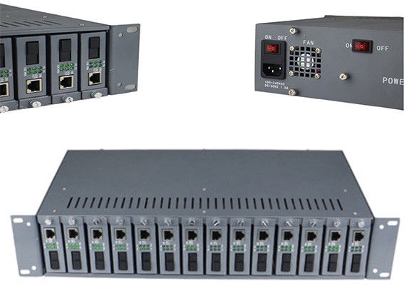 Fiber Optic Media Converter Rack Mount