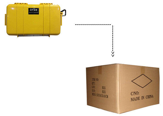 Fiber Optical OTDR Launch Cable Box Distance 2km With SC Connector