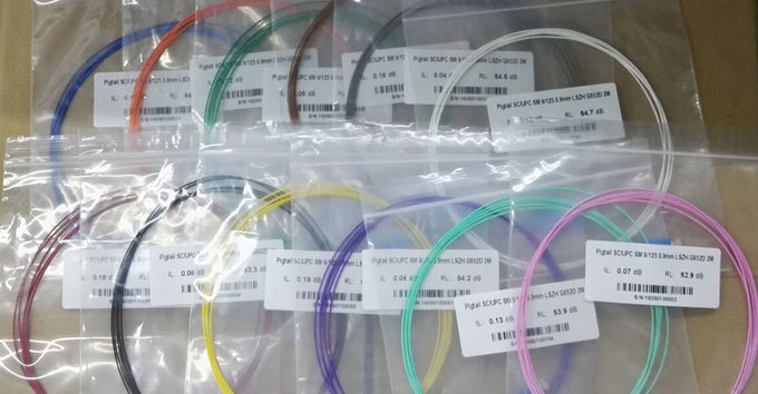 12 colors PVC Fiber Optic Pigtail Single Mode FTTH Fiber to The Home SC Type