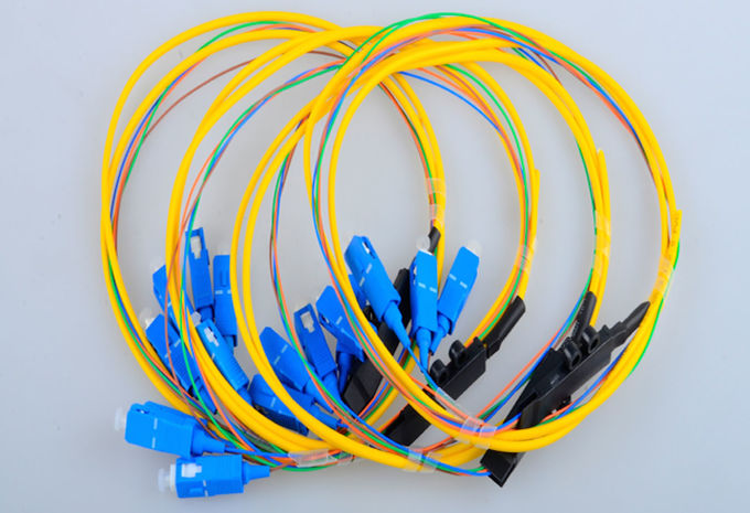 Fan Out Kits Optical Fiber Patch Cable Patch Cord Pigtail SC Single Mode 4 Cores 0